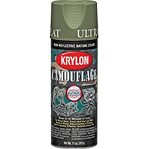 Krylon Camouflage With Fusion Technology Spray Paint Light Green Flat 11 Oz