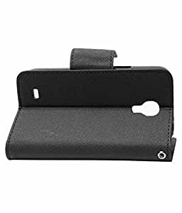 MobiKing Mercury Goospery Case Fancy Diary Flip Wallet Cover for Samsung Galaxy S4 Mini i9190 (Black)