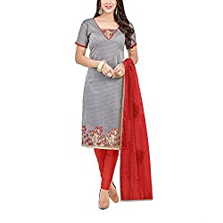 Applecreation Women's Grey | Synthetic unstitched dress materials for women party wear bollywood dress material for Casual | Ceremony | Evening Occasions