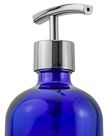 Refillable Liquid Soap Dispenser Designer Cobalt Blue