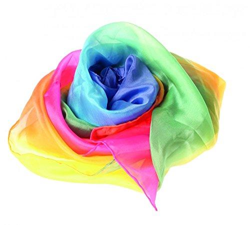 Seidentuch und Spieltuch 86 x 86 cm, Farbe:regenbogen online kaufen