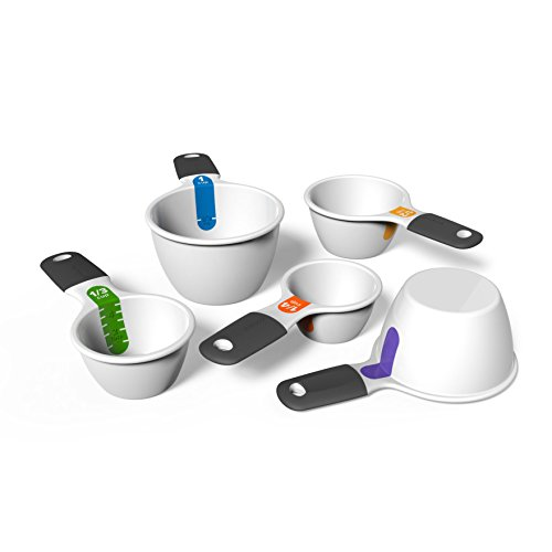 Good Cook Touch 5 Piece Dual Measuring Cup Set, White