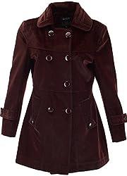 Panache Women's Slim Fit Coat (M007 _ Medium, Maroon)