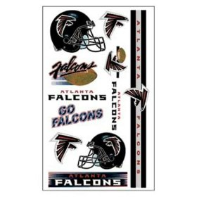 Atlanta Falcons NFL Temporary Tattoos (10 Tattoos)