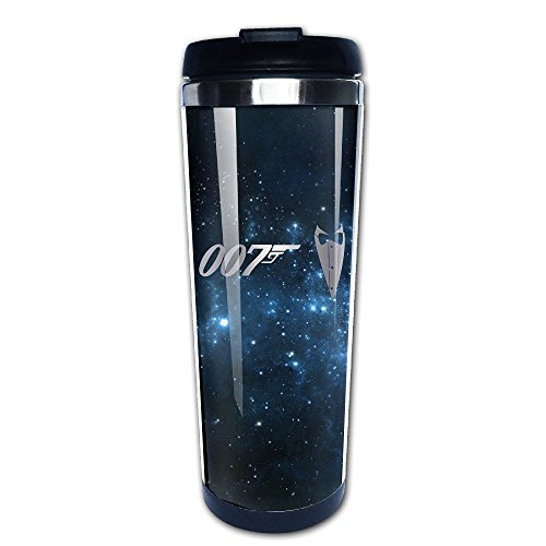 Stainless Steel James Bond 007 Logo Platinum Style Tumbler Coffee Mug (Coffee Pod Wall Dispenser compare prices)