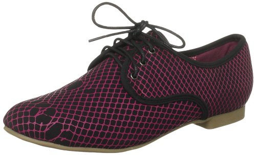 Iron Fist Women's Hot Mesh Oxford Flat Black Penny Loafer IFLOXF0005 3 UK, 36 EU, 5 US