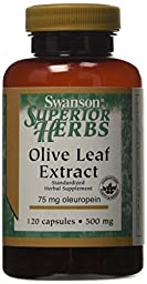 Swanson Olive Leaf Extract 500 mg 120 Caps