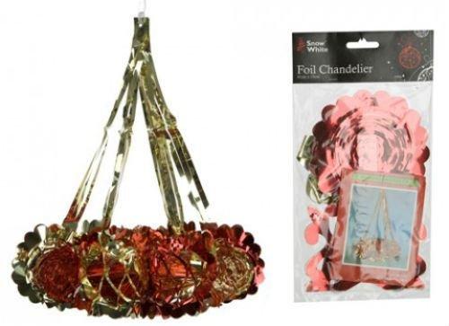 foil-chandelier-40cm-red-gold