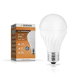 SEBSON® E27 LED 9W Lampe - vgl. 60W Glühlampe - 810 Lumen - E27 LED Warm Weiß - LED Leuchtmittel 160°