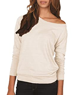 Ladies Eco-Jersey Slouchy Pullover, Ivory XL