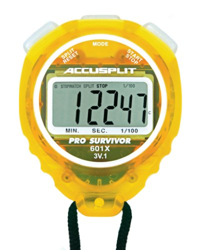 ACCUSPLIT Pro Survivor - A601X Stopwatch, Clock, Extra Large Display (Lemon) (Extra Large Display Case compare prices)