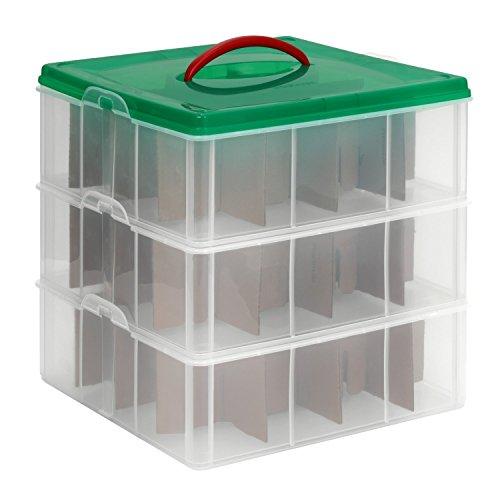 Snapware Snap 'N Stack Oranament & Seasonal Storage, Square, 12