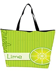 Snoogg Bright Organic Lime Card In Vector Format Waterproof Bag Made Of High Strength Nylon