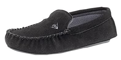Men's Dunlop LUKE Suede Moccasins BLACK size 6
