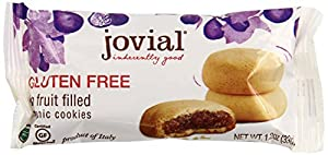 Jovial Fig Fruit Filled Gluten Free Organic Cookies, 7 Oz. (Pack of 5)