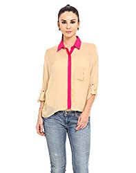 MSMB Nude & Fuschia Coloured Polyester Shirt Large