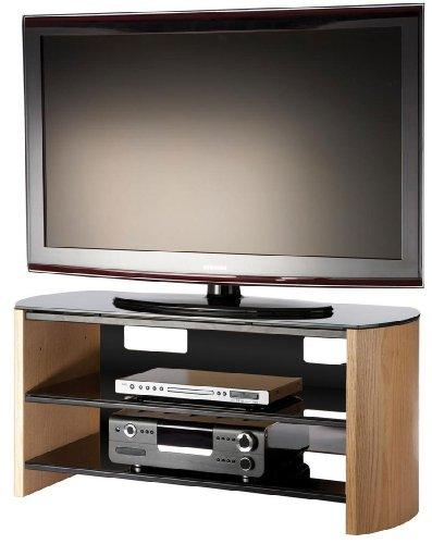 Alphason Designs Ltd FW1100LO Alphason Finewood LCD Cabinet stand in light oak