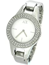 Armani AX Exchange White Dial Stainless Steel Ladies Watch AX4092