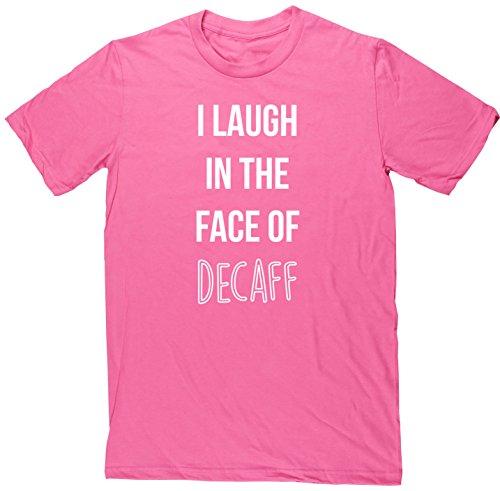HippoWarehouse I Laugh il viso di Decaff Maglietta a maniche corte unisex rosa XX-Large