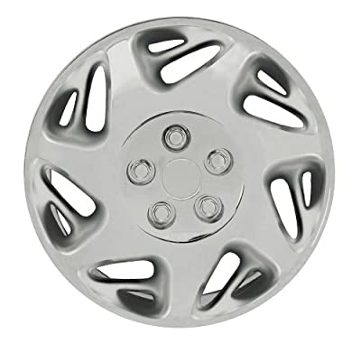 CCI IWCB8059-16S 16 Inch Clip On Silver Finish Hubcaps - Pack of 4