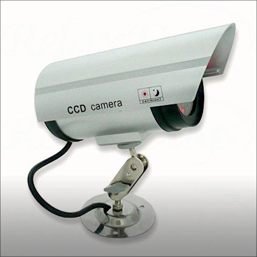relaxdays ccd kamera attrappe mit led blink licht berwachungskameras. Black Bedroom Furniture Sets. Home Design Ideas