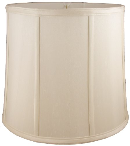 American Pride Lampshade Co. 04-78090518 Round Soft Tailored Lampshade, Shantung, Light Beige