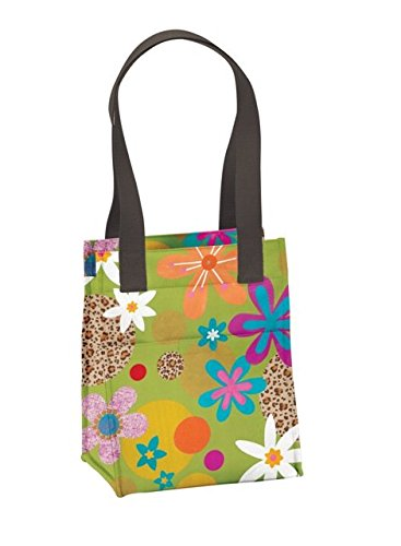 Joann Marrie Designs Nlb2Glf Large Lunch Bag - Green Leopard Floral, Pack Of 2