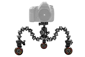 Cinetics CineSkates Set: 3 Wheels + Case - Bundle - with Joby Gorillapod Focus and Ballhead X Combo (GP8-BH)