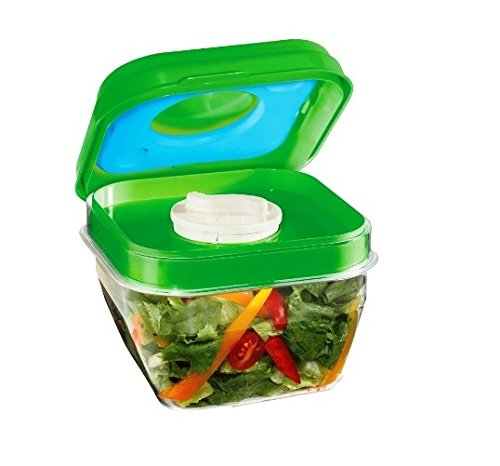 Fit & Fresh Salad Shaker Container with Removable Ice