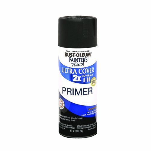 Rust-Oleum 249846 Painter's Touch Multi-Purpose Spray Paint, Flat Black Primer, 12-Ounce