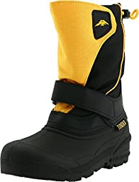 Tundra Quebec Wide Boot (Toddler/Little Kid/Big Kid),Black/Gold,12 W US Little Kid