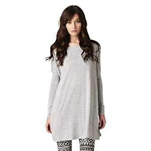 Oversized Women's Tunic Top Shirt or Dress Gray Size: Small - Medium