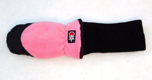 Xtra Small SnowStoppers STAY-ON Fleece Mittens (Pink)