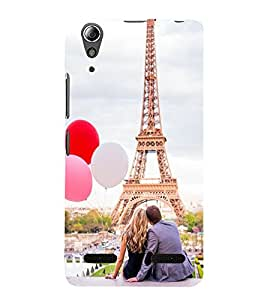 Vizagbeats Couple at Eiffel Tower Back Case Cover for Lenovo A6000