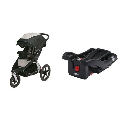 graco relay click connect jogging stroller and snugride click connect 30 35 lx infant car seat. Black Bedroom Furniture Sets. Home Design Ideas