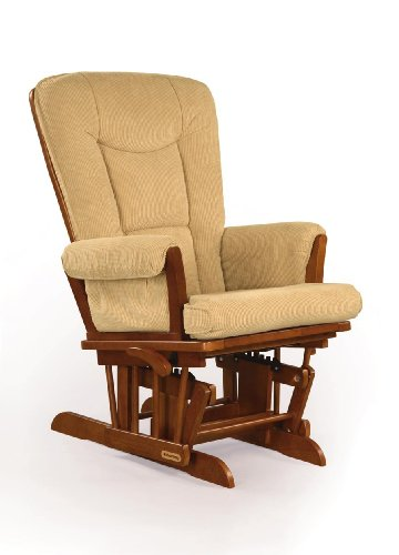 Shermag Glider Rocker, Chablis with Camel Micro Fabric