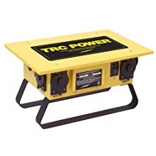 "TRC 91000 Steel Temporary Power Distribution Unit with GFCI Protection, 50A, 21"" Length x 14.5"" Width x 11"" Height"