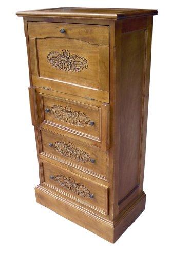 French Furniture, Solid Wood Writing Bureau/ Writing Desk in Oak Finish, Shabby Chic Furniture