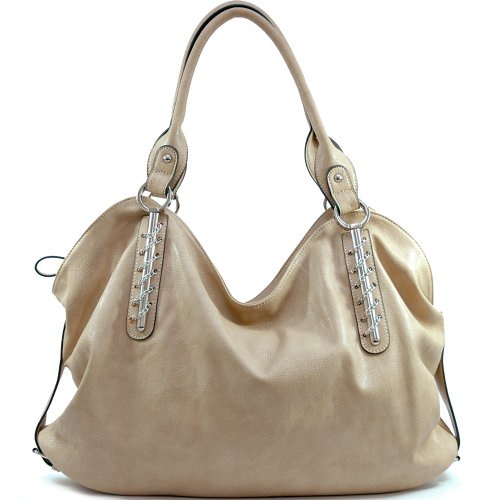 Designer Inspired Synthetic Leather Dasein designer inspired handbag - Khaki