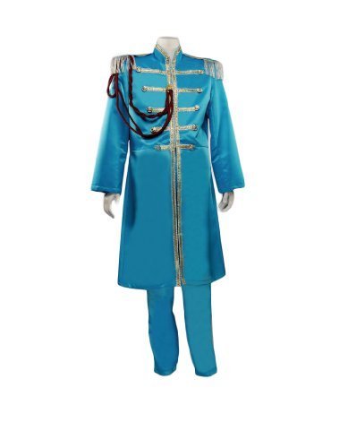 [Men's Beatles Sgt. Pepper's Blue (Paul) Costume, Large] (Sgt Pepper Paul Costume)