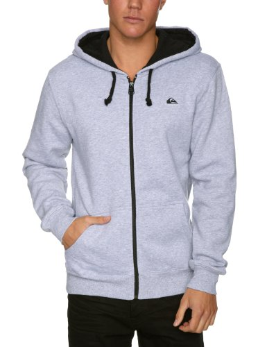 Quiksilver Contrast Mens Sweatshirt Light Grey Heather Medium