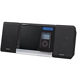 Panasonic SC-EN38 Micro-Stereo System with Built-In iPod Cradle (Black) (Discontinued by Manufacturer)