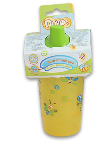 Novile Spill Proof 91438 BPA Free 10 Ounce Best Baby Hard Spout Training Sippy Cup Without Handles (Yellow) - 1