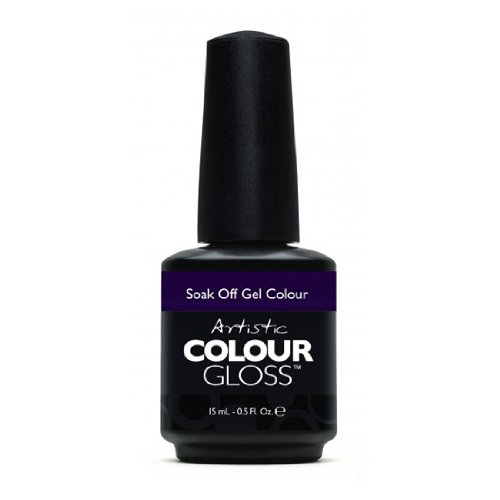 Artistic Nail Design Soak Off Colour Gloss Gel Deep Purple Polish 3115 Fearless