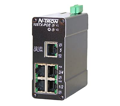 N-tron Ethernet Switch w/ PoE Capabilty 105TX-POE