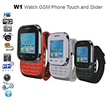 Watch Phone Model W1 - Dual Sim Watch Phone With Free Bluetooth Headset - Touch and Slide