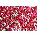 Mini Red White and Pink Heart Sprinkles