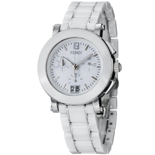 Fendi Women's F662140 Ceramic Stainless Steel and Ceramic Bracelet Watch