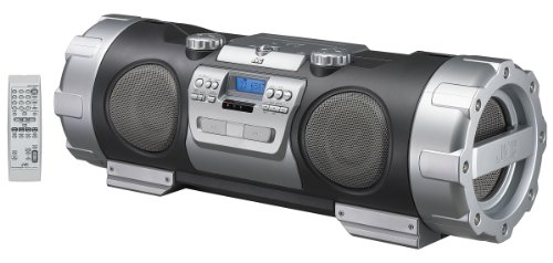JVC Boombox RV-NB20B MP3-Compatible Powered Woofer CD System - Connection for iPod