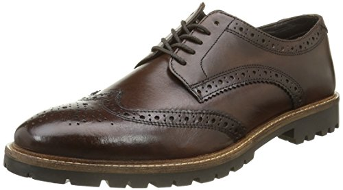 Base LondonTrench - Scarpe stringate Uomo , Marrone (Marron (Washed Brown)), 43